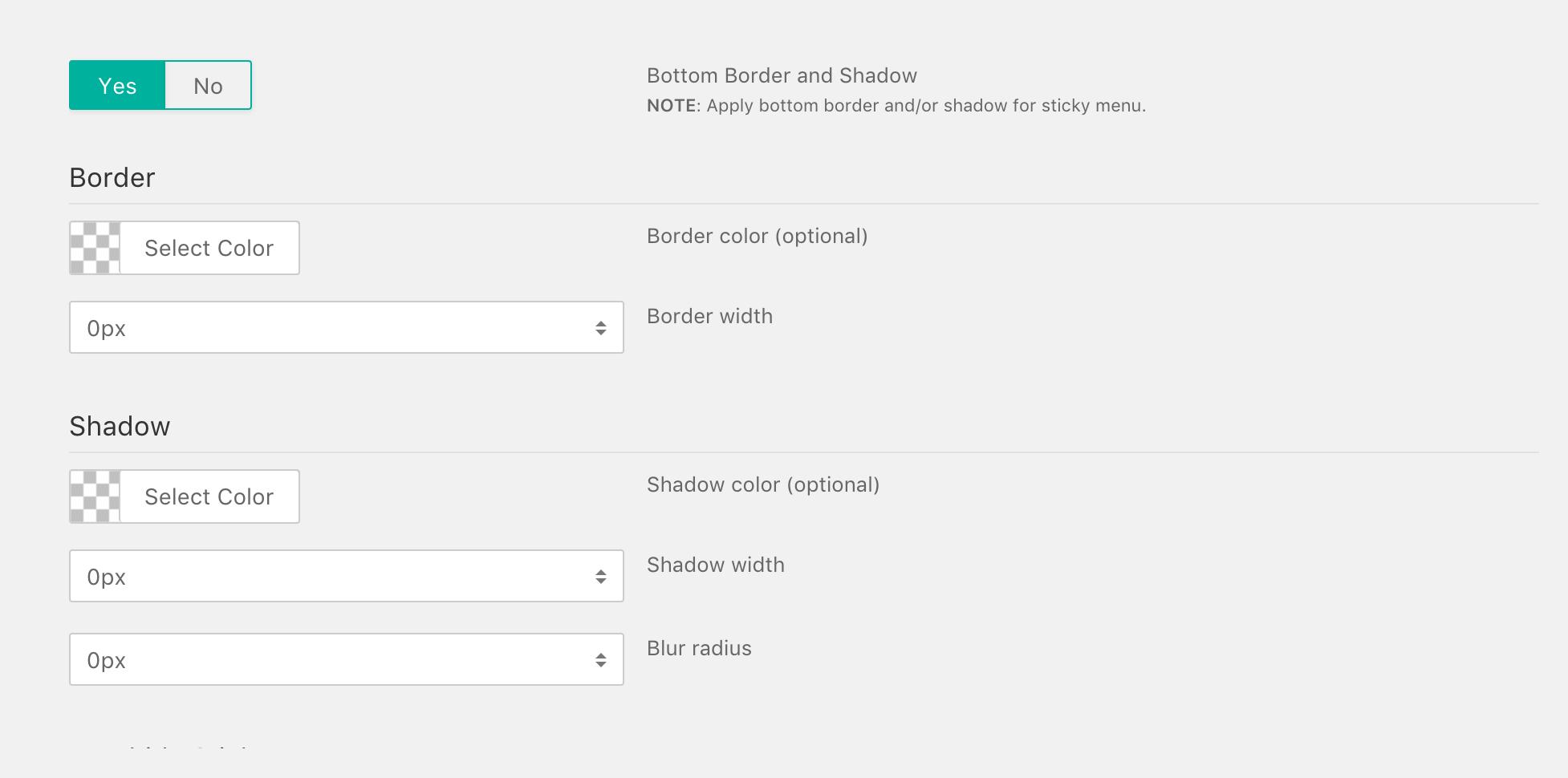 Setting Sticky Header – Documentation