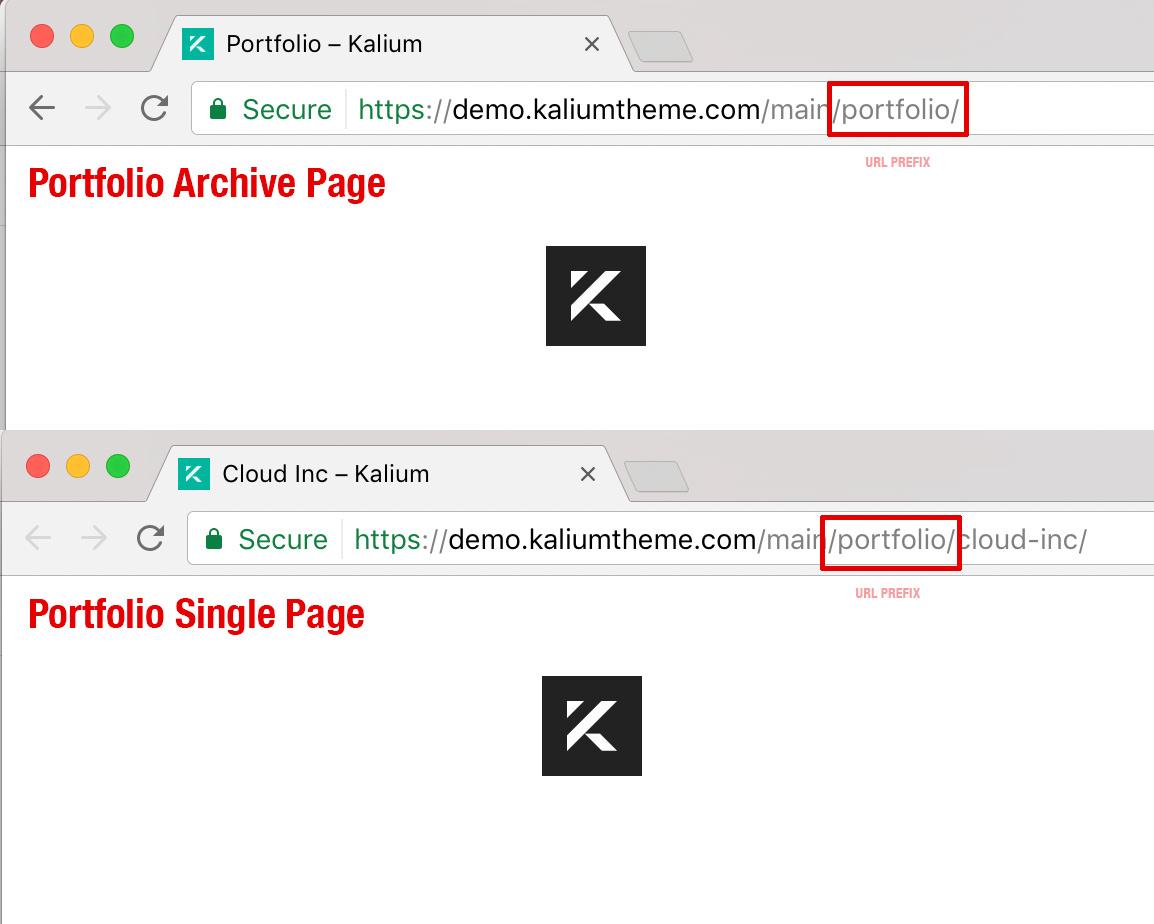 Changing Portfolio Url Prefixes Laborator Themes Documentation