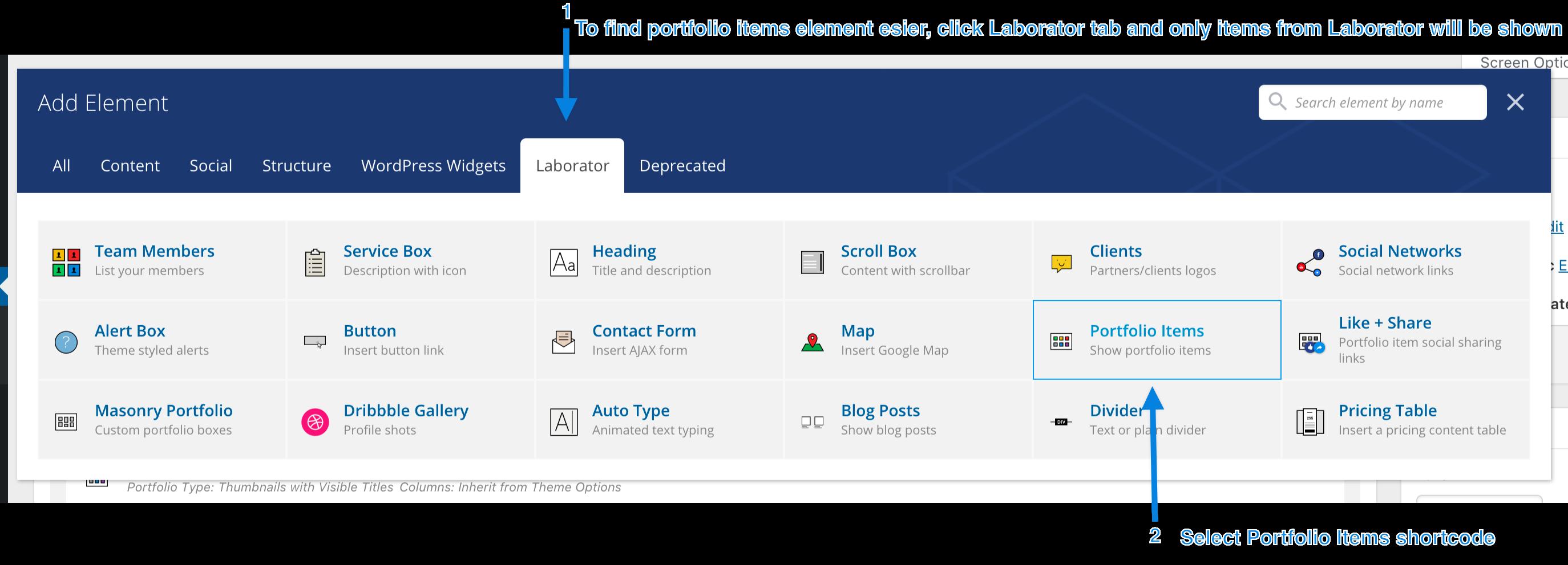 Creating a portfolio page – Documentation