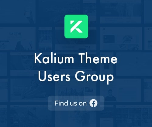 Kalium Theme Users Group Facebook